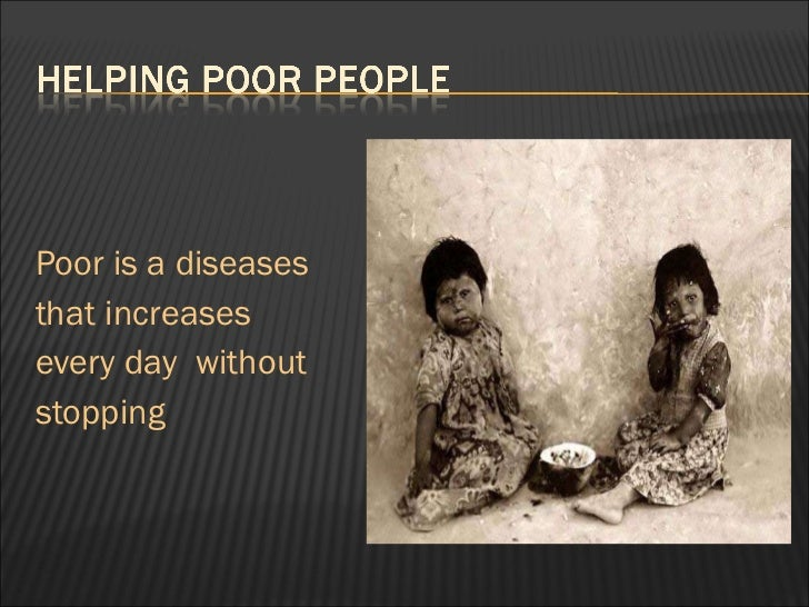 Essay about poor people