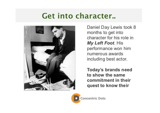 19 Daniel Day Lewis took 8 months to get into character for his role in My Left Foot. His performance won him numerous awa...