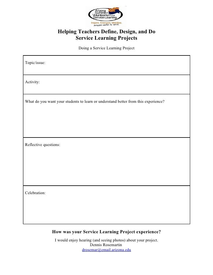 Helping Teachers Define Design And Do Service Learning