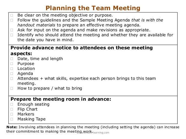 making a meeting agenda