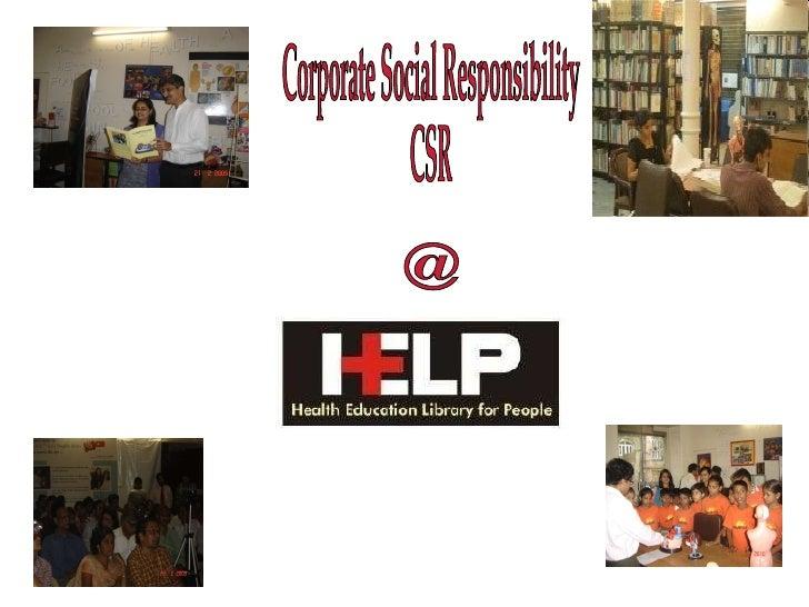 Corporate Social Responsibility  CSR @