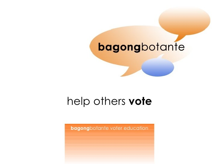 help others  vote bagong botante voter education