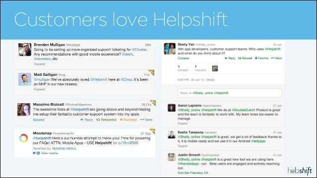 Customers love Helpshift