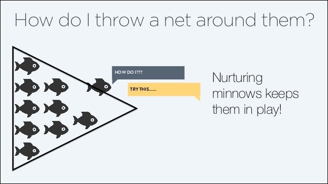 How do I throw a net around them? HOW DO I??? TRY THIS…….  Nurturing minnows keeps them in play!