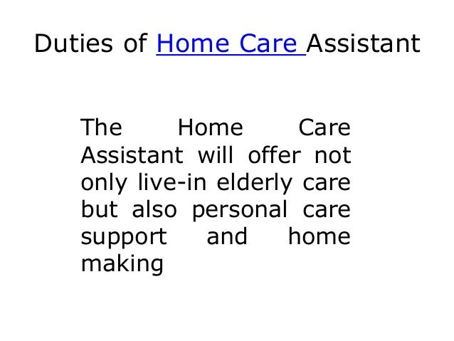 personal care assistant duties