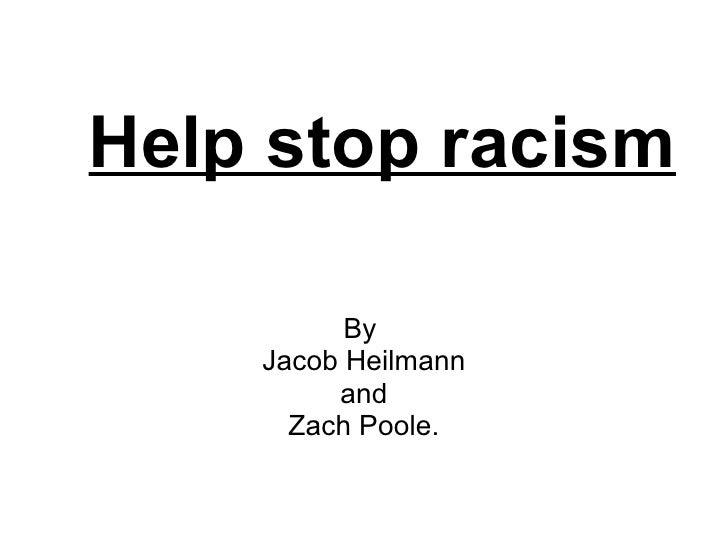 Help stop racism