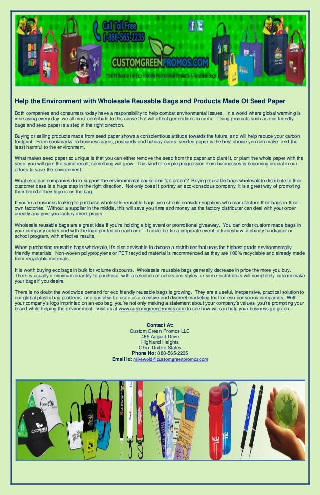 Help the environment with wholesale reusable bags and products made o help the environment with wholesale reusable bags and products made of seed paperboth companies and consumers reheart Images