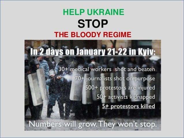 HELP UKRAINE  STOP THE BLOODY REGIME