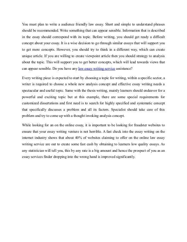 Law essay writing help