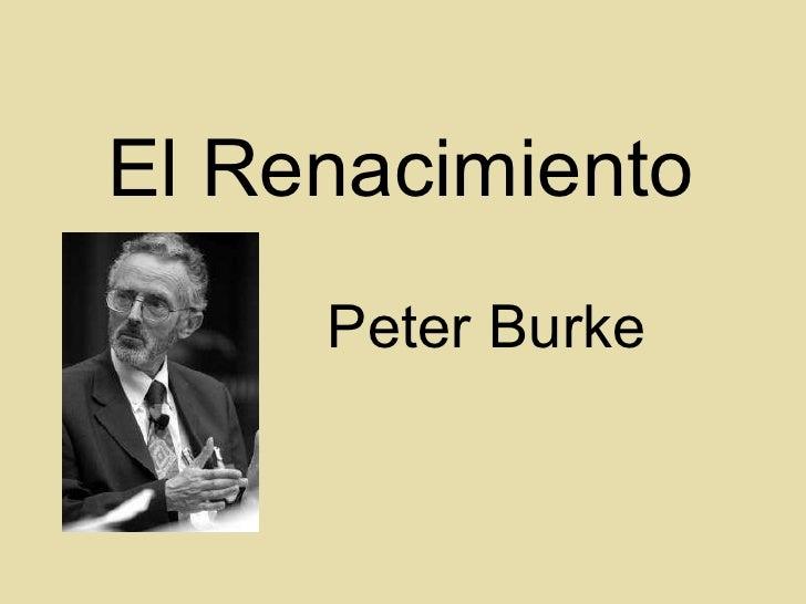 El Renacimiento Peter Burke