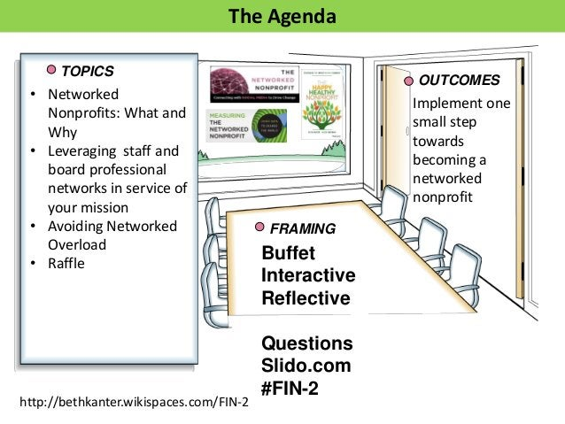 TOPICS OUTCOMES Buffet Interactive Reflective Questions Slido.com #FIN-2 FRAMING The Agenda Implement one small step towar...