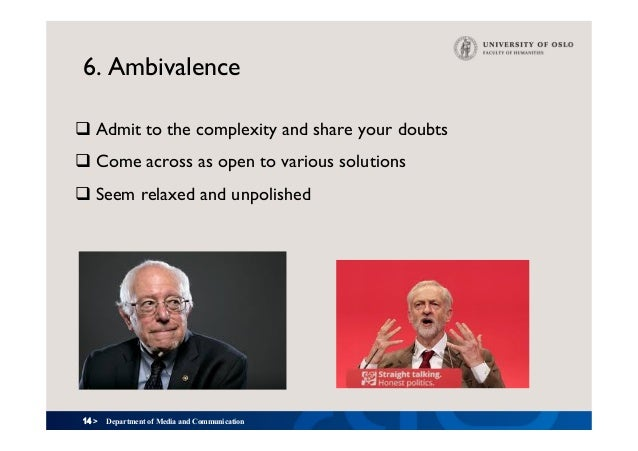 14 > 6. Ambivalence qAdmit to the complexity and share your doubts qCome across as open to various solutions qSeem rela...