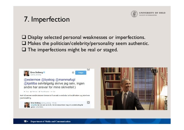 15 > 7. Imperfection Department of Media and Communication qDisplay selected personal weaknesses or imperfections. qMake...