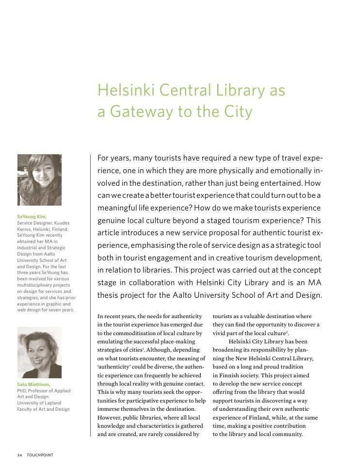 Helsinki Central Library as                                a Gateway to the City                                For years,...