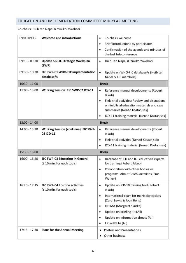 Helsinki draft agendas 13 april 2015 – Draft Meeting Agenda