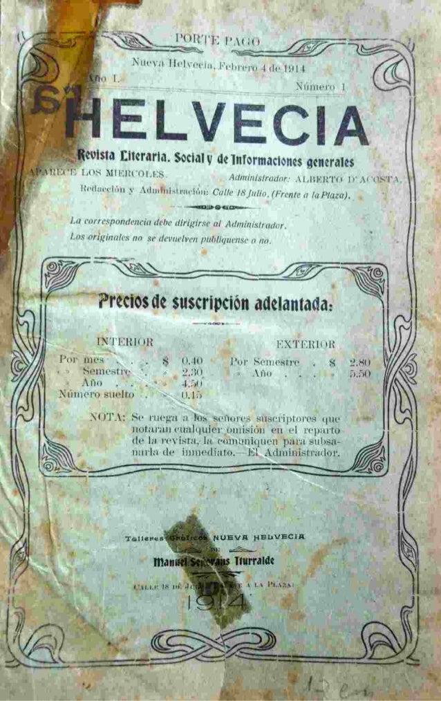 Helvecia edicion numero 1  4 feb.1914 Slide 3