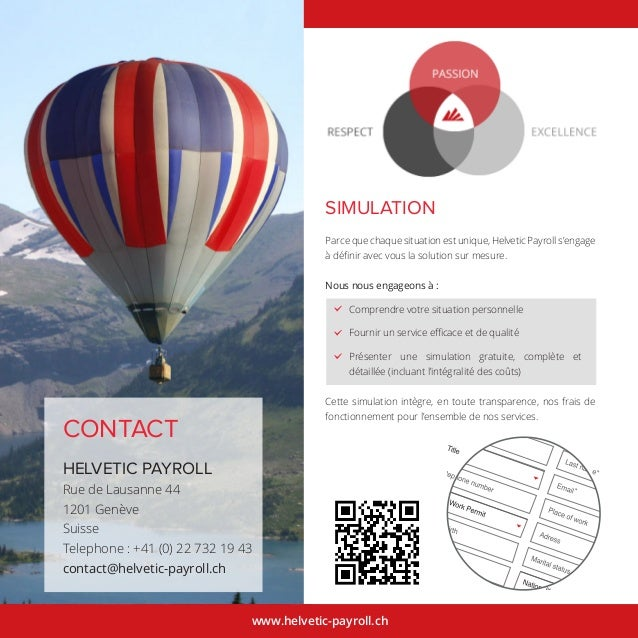 www.helvetic-payroll.ch CONTACT HELVETIC PAYROLL Rue de Lausanne 44 1201 Genève Suisse Telephone : +41 (0) 22 732 19 43 co...