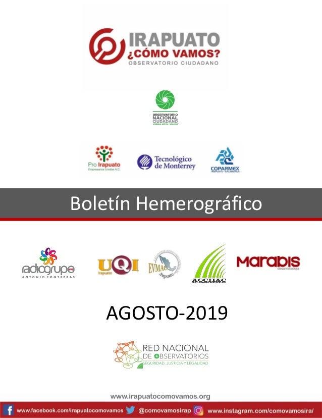Boletín Hemerográfico AGOSTO-2019