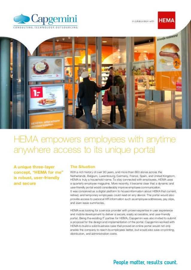 """HEMA empowers employees with anytime anywhere access to its unique portal A unique three-layer concept, """"HEMA for me"""" is r..."""