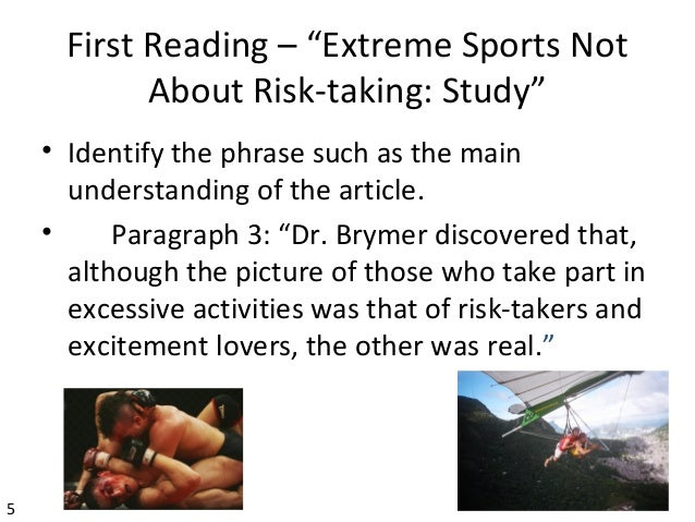 "are extreme sports worth the risk Is thrill-seeking worth the risk awake—2017 see more the bible's viewpoint ""extreme sports""—should you take the risk."