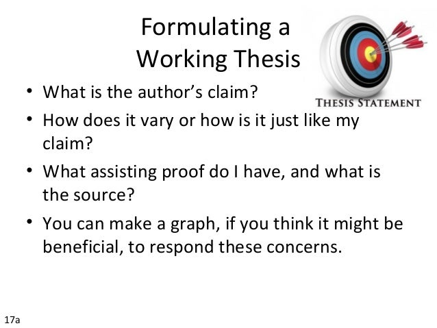 thesis statement formula for research paper