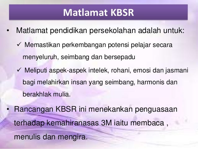 kbsr and kssr Kssr bahan sokongan  (new) elemen merentas kurikulum - (kemaskini jun 2011) panduan dan peraturan pentaksiran berasaskan.