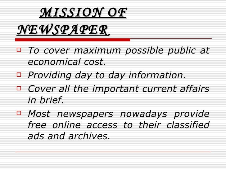 benefits of newspaper essay