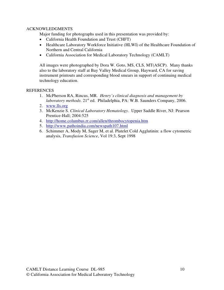 Hematology case studies platelets
