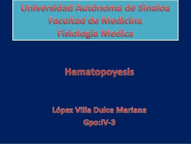 Células madre hematopoyéticasLas células sanguíneas                    Se originan:se forman de maneraconstante mediante u...