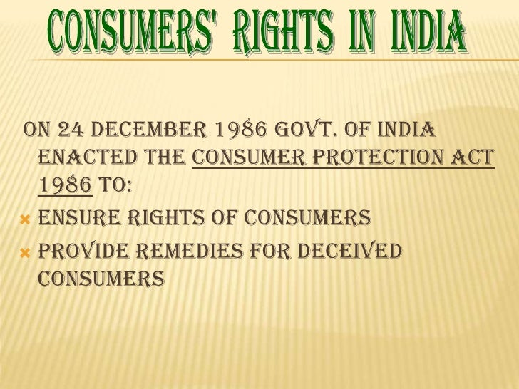 consumer protection  7 consumers apos rights