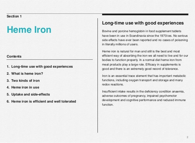Heme iron. The natural way of iron supplementation