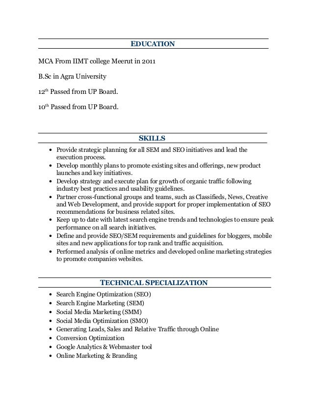 Sample Seo Resume Job Resume Examples For College Students Job