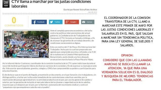 EL COORDINADOR DE LA COMISION TRANSITORIA DE LA CTV, LLAMO A MARCHAR ESTE PRIMER DE MAYO POR LAS JUSTAS CONDICIONES LABORA...