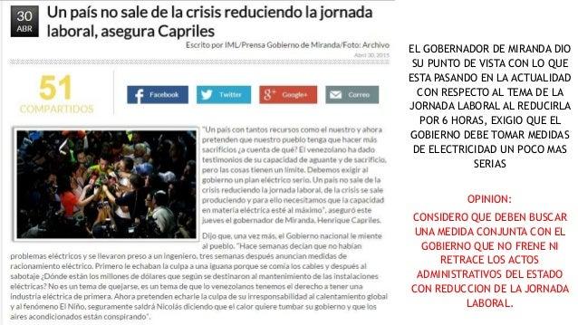EL GOBERNADOR DE MIRANDA DIO SU PUNTO DE VISTA CON LO QUE ESTA PASANDO EN LA ACTUALIDAD CON RESPECTO AL TEMA DE LA JORNADA...