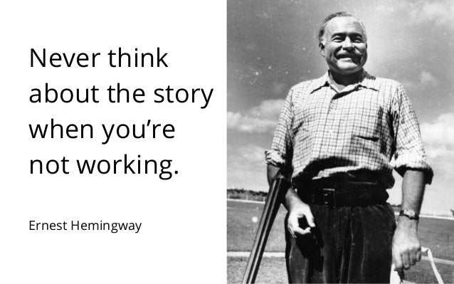 hemingway writing Although he never wrote any essays on writing, hemingway did give numerous  pointers to his friends and fellow writers who came to him for.