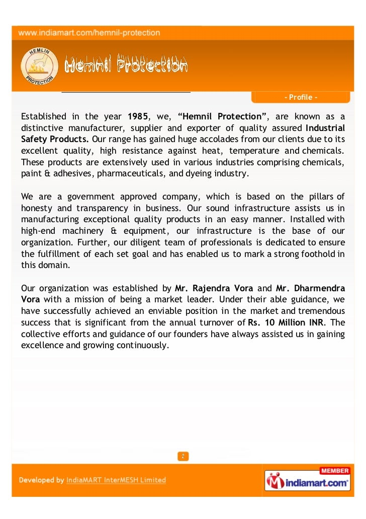 Hemnil Protection, Mumbai, Industrial Safety Products Slide 2
