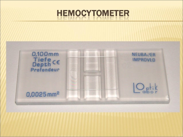 Sperm count and hemocytometer