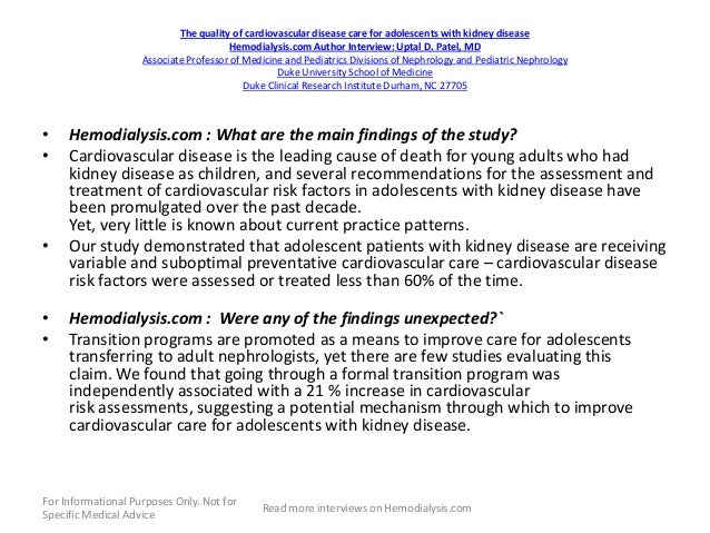 Hemodialysis Nephrology Interviews March 9 2013