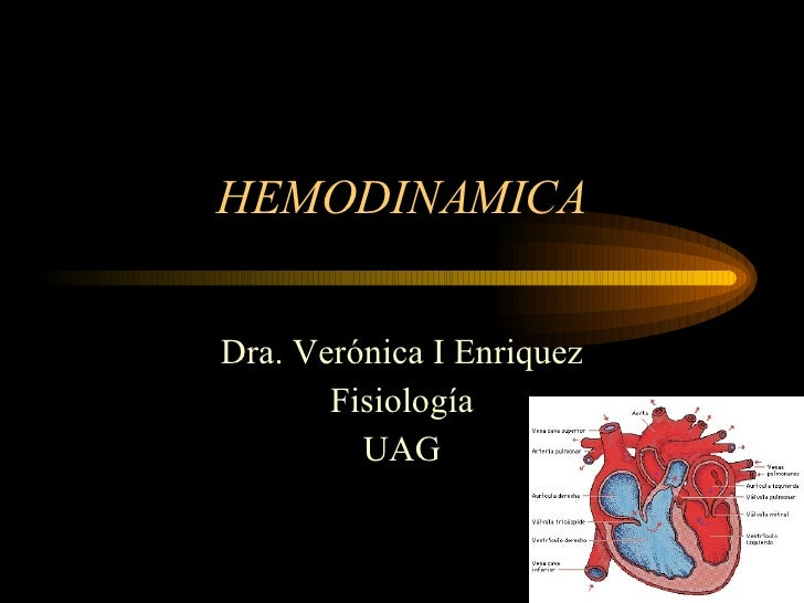 HEMODINAMICA Dra. Verónica I Enriquez Fisiología UAG