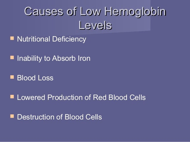 what are the causes of low hemoglobin count