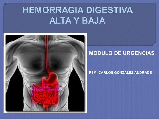 MODULO DE URGENCIAS  R1MI CARLOS GONZALEZ ANDRADE