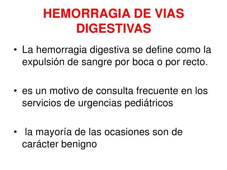 Hemorragia de vias digestivas en el niño Slide 2