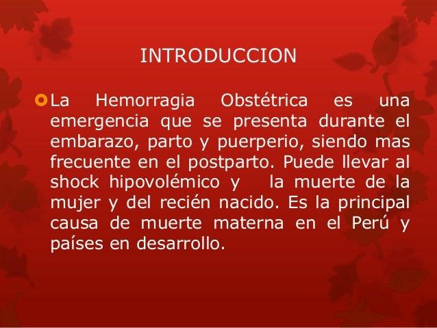 Hemorragia obstetrica 2014 Slide 2