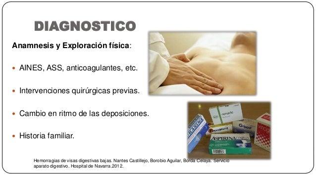 DIAGNOSTICO Hemorragias de visas digestivas bajas. Nantes Castillejo, Borobio Aguilar, Borda Celaya. Servicio aparato dige...