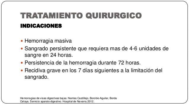 TRATAMIENTO QUIRURGICO Hemorragias de visas digestivas bajas. Nantes Castillejo, Borobio Aguilar, Borda Celaya. Servicio a...
