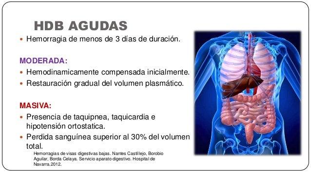HDB AGUDAS Hemorragias de visas digestivas bajas. Nantes Castillejo, Borobio Aguilar, Borda Celaya. Servicio aparato diges...