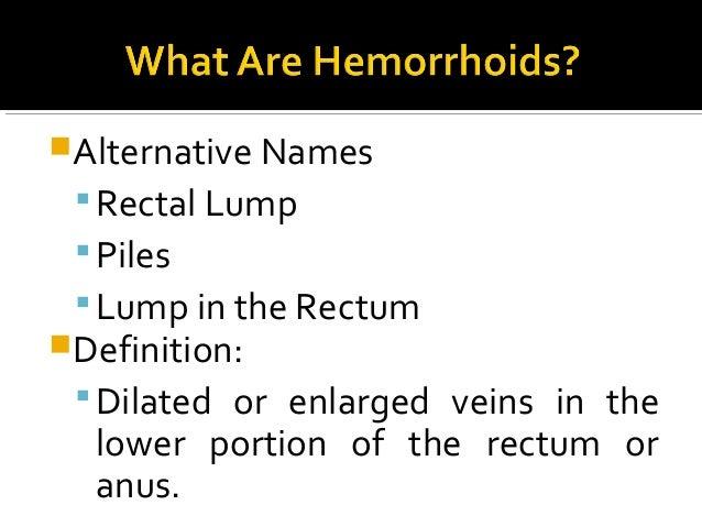 Hemorrhoids Slide 2
