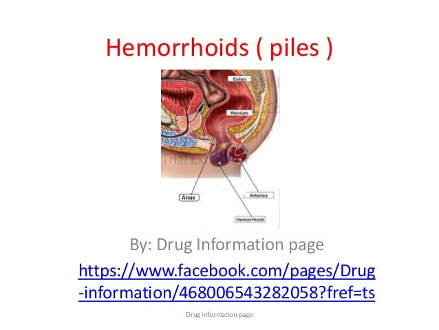 Hemorrhoids Drug Information Page