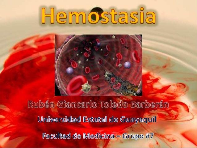  Proceso activo de coagulación de la sangre en zonas donde haya lesión vascular.  Sistema fibrinolítico restaura flujo s...