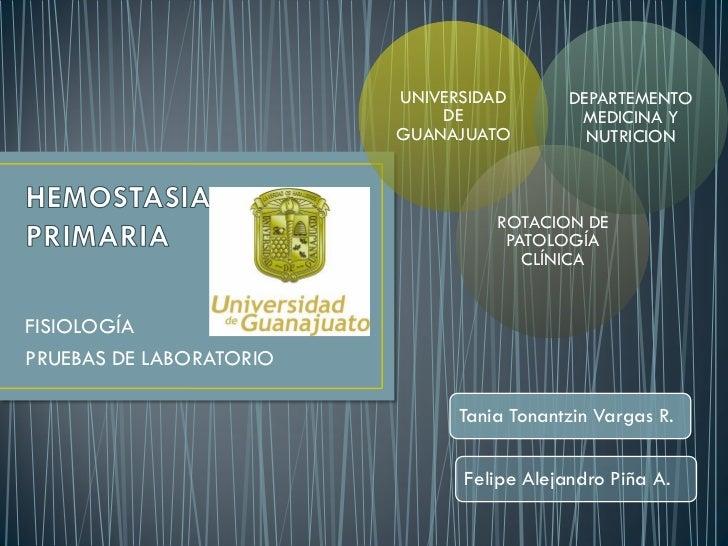UNIVERSIDAD       DEPARTEMENTO                             DE             MEDICINA Y                         GUANAJUATO   ...